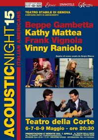 "ACOUSTIC NIGHT 15 - ""Italian - Americans"""